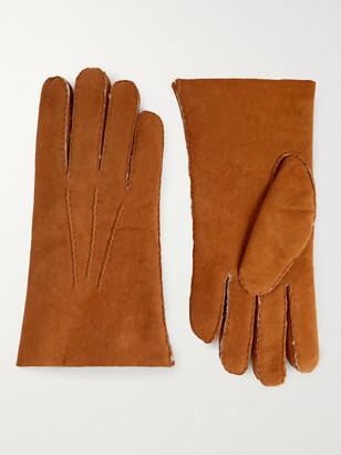 Hestra Shearling Gloves - Men - Brown