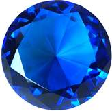 Tripact 80mm Cobalt l Diamond Jewel Crystal Paperweight 3.25 Inch