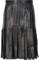Thierry Mugler strappy a-line skirt - women - Lamb Skin - 36