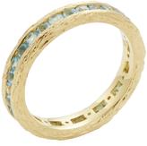 Elizabeth Showers Women's 18K Yellow Gold & Swiss Blue Topaz Birch Channel Stack Ring