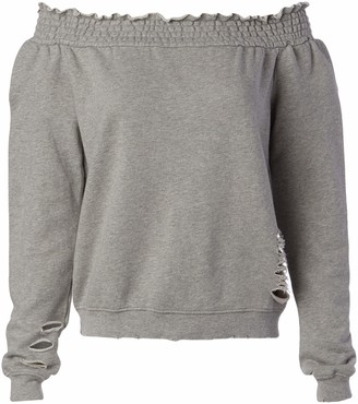 Pam & Gela Women's Off Shoulder Sweatshirt