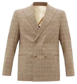 Nanushka Malvin Houndstooth-check Tweed Blazer - Mens - Brown Multi