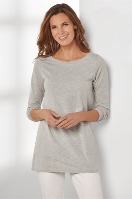 Tiffany Long Sleeve Boatneck Tee