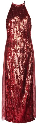 Galvan Exclusive to Mytheresa Sequined stretch-tulle midi dress