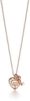 Tiffany & Co. Return to TiffanyTM Love heart tag key pendant in 18k rose gold