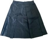 Alberto Biani Grey Silk Skirt for Women