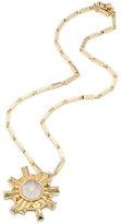 Eddie Borgo Golden Sunburst Pendant Necklace