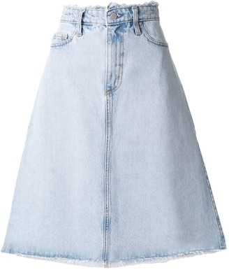 Nobody Denim Vita A-line denim skirt