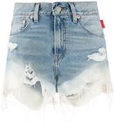 Denimist high rise shorts