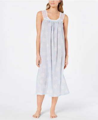 Charter Club Lace Straps Woven Cotton Nightgown