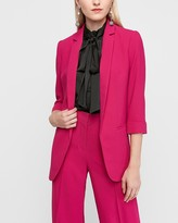Express Rolled Sleeve Notch Collar Boyfriend Blazer