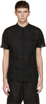 Isabel Benenato Black Linen Shirt