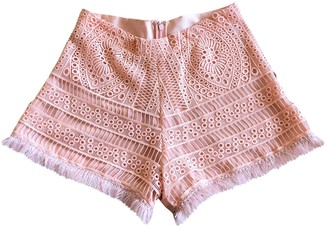 Alexis Pink Cotton Shorts for Women