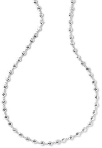 "Ippolita Glamazon Silver Flat Hammered Bead Necklace, 40""L"
