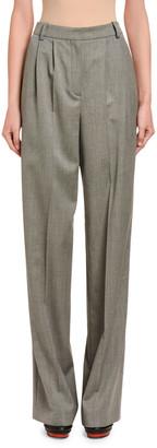 Alexander McQueen Wool Sharkskin High-Rise Trousers