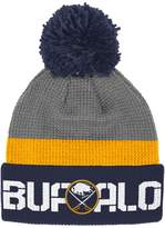 Reebok Adult Buffalo Sabres Cuffed Pom Knit Hat