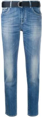 Jacob Cohen belted slim-fit jeans