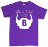 Customised Perfection She Wants the B Beard Hipster T Shirt M