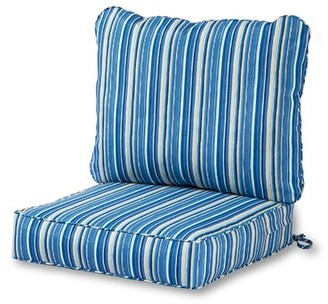 Highland Dunes Indoor/Outdoor Seat/Back Cushion Fabric: Sapphire