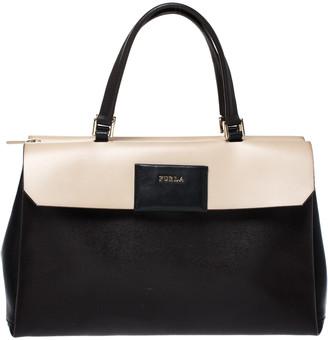Furla Bicolor Leather Top Handle Bag