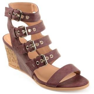 Brinley Co. Womens Buckle Gladiator Open-toe Wedges