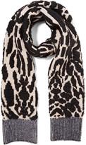 Just Cavalli Jacquard-knit wool-blend scarf