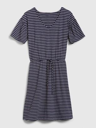 Gap Flutter Sleeve Tie-Front Dress in Modal-Cotton