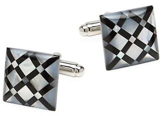 Cufflinks Inc. Ox & Bull Trading Co. White Mother of Pearl Diamond Cufflinks