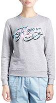 Kenzo Crewneck Pullover Script Sweatshirt, Gray