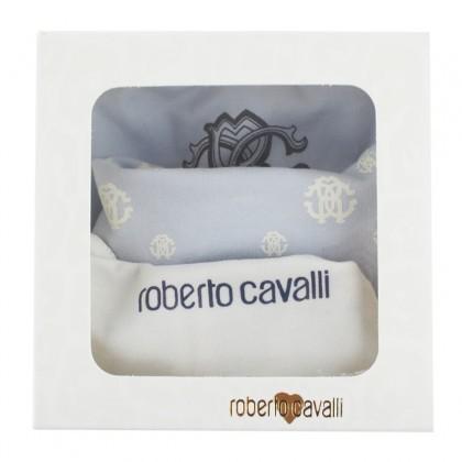 Roberto Cavalli Blue Bib Set