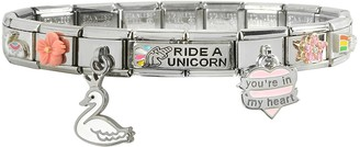 Nomination Ride a Unicorn Sterling Silver & Stainless Steel Bracelet