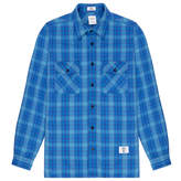 Bedwin&the Heartbreakers Bedwin & The Heartbreakers Richards Blue Wool-Blend Shirt