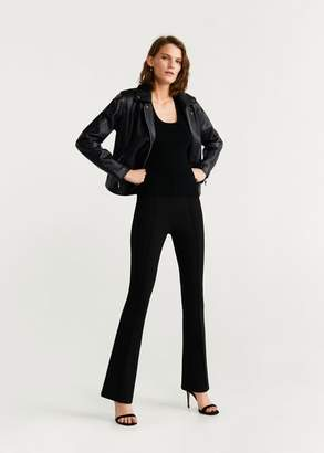 MANGO Zipped biker jacket black - XXS - Women