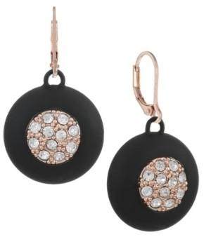 Trifari 12K Rose Gold-Plated Drop Earrings
