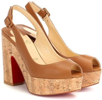 Christian Louboutin Dona Anna leather platform sandals