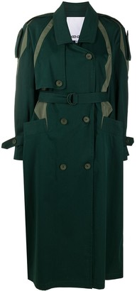 Kenzo Bi-Colour Belted Trench Coat