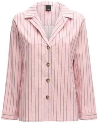 ELSE Audrey Striped Cotton Pajama Top