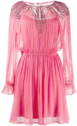 Alberta Ferretti Pleated Mini Dress