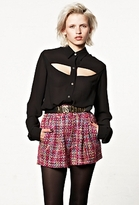 MinkPink Mink Pink Be My Guest Cut Out Shirt
