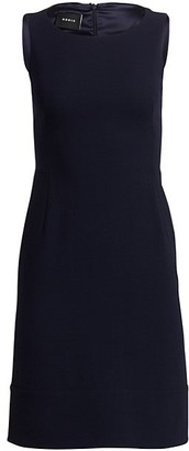 Akris Sleeveless Double-Face Wool Dress