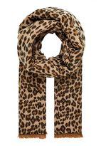 Hallhuber Leopard Print Winter Scarf