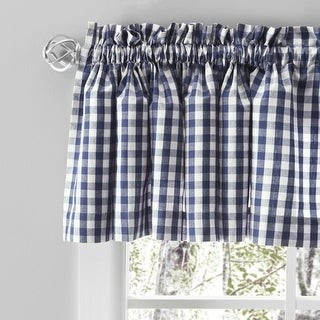 Checkmate Rod Pocket Kitchen Curtains - Tier, Swag or Valance