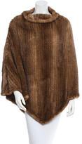 J. Mendel Knitted Mink Poncho