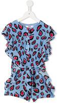 MSGM leopard print jumpsuit - kids - Silk Crepe - 4 yrs