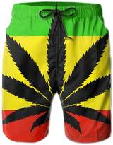 Ank196 Youth/Men Weed Stoner Flag Casual Sport Camouflage Short Pants Jogging Pants