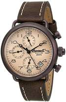 Ingersoll Quartz Balfour Men's Quartz Watch with Brown Dial Chronograph Display and Brown Leather Strap INQ008KHBR