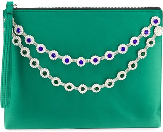 Christopher Kane Flower Crystal Chain Clutch Bag