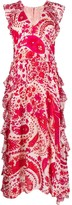 Twin-Set Abstract Floral-Print Dress