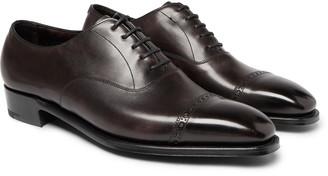 George Cleverley Nakagawa Burnished-Leather Oxford Brogues