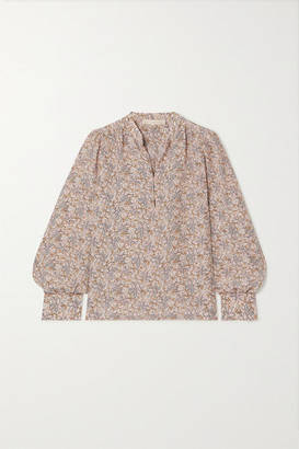 Vanessa Bruno Ned Floral-print Silk Crepe De Chine Blouse